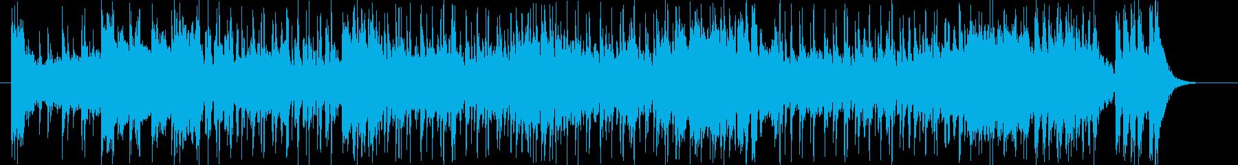 緩やかでムーディーなシンセジングルの再生済みの波形