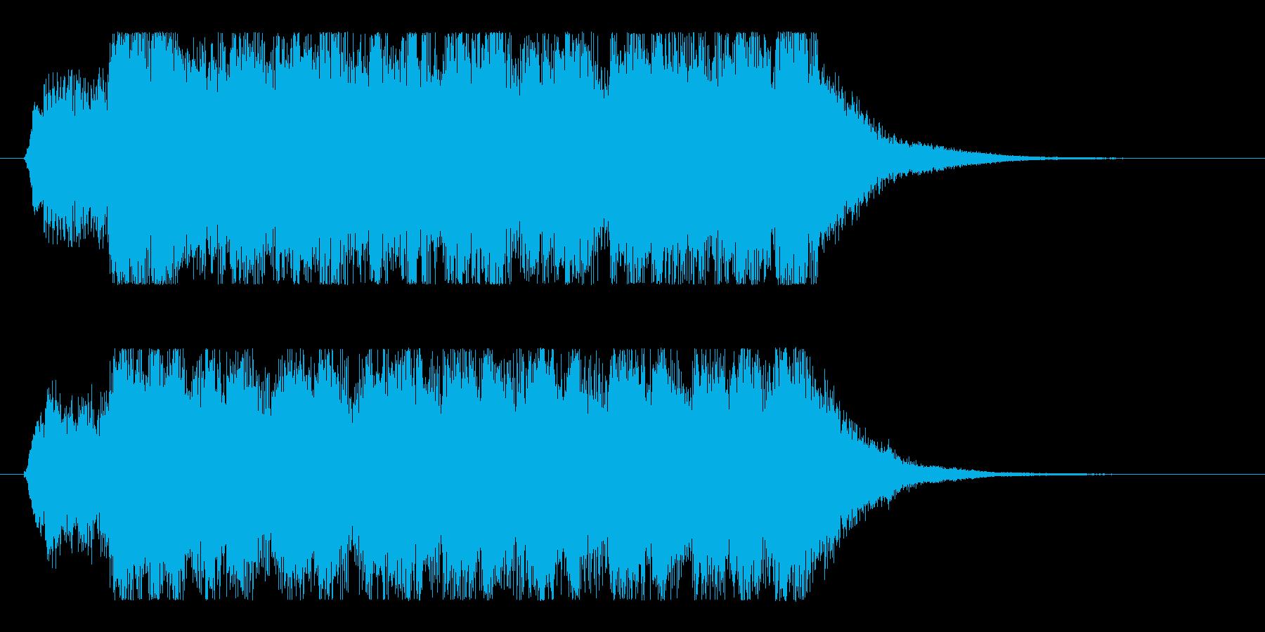 華やかなクリスマス&冬のオーケストラロゴの再生済みの波形