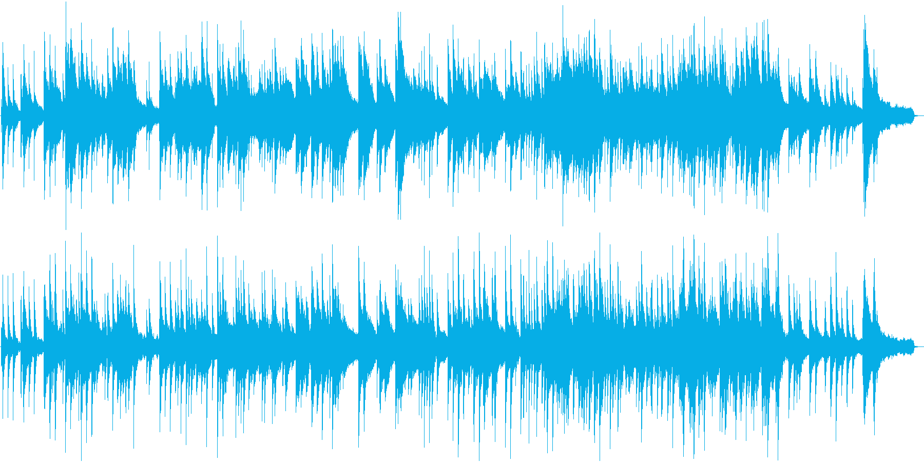 静かにきらめくようなピアノ曲 結婚式等にの再生済みの波形