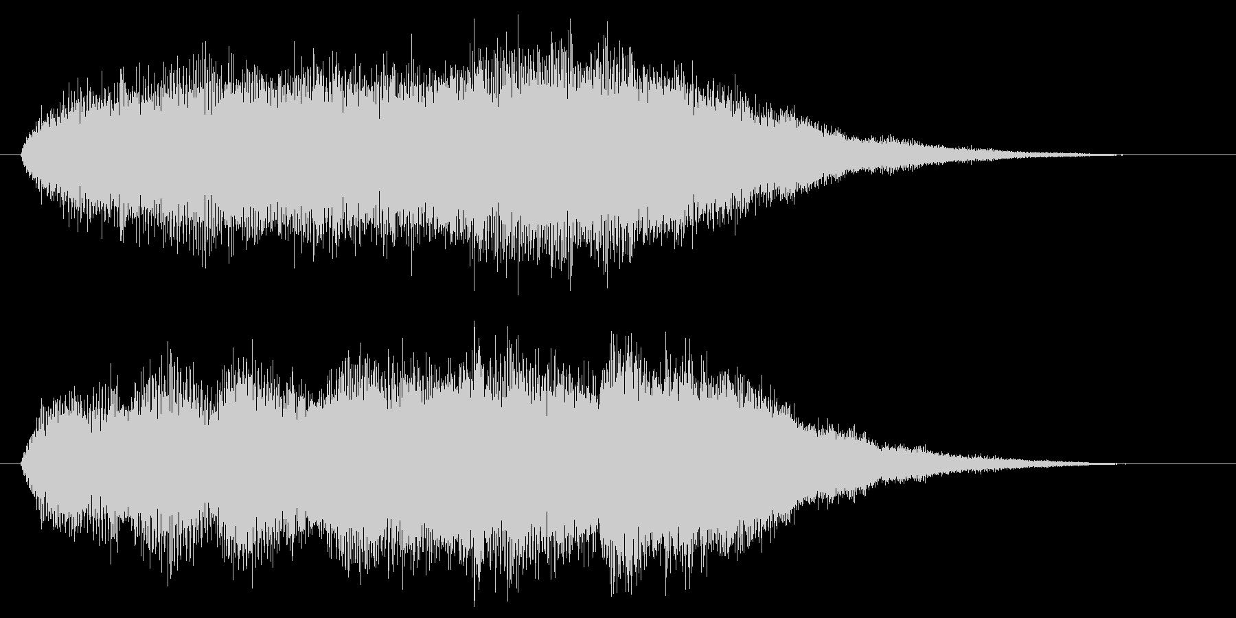 シンセがシリアスなワンコードを弾く効果音の未再生の波形