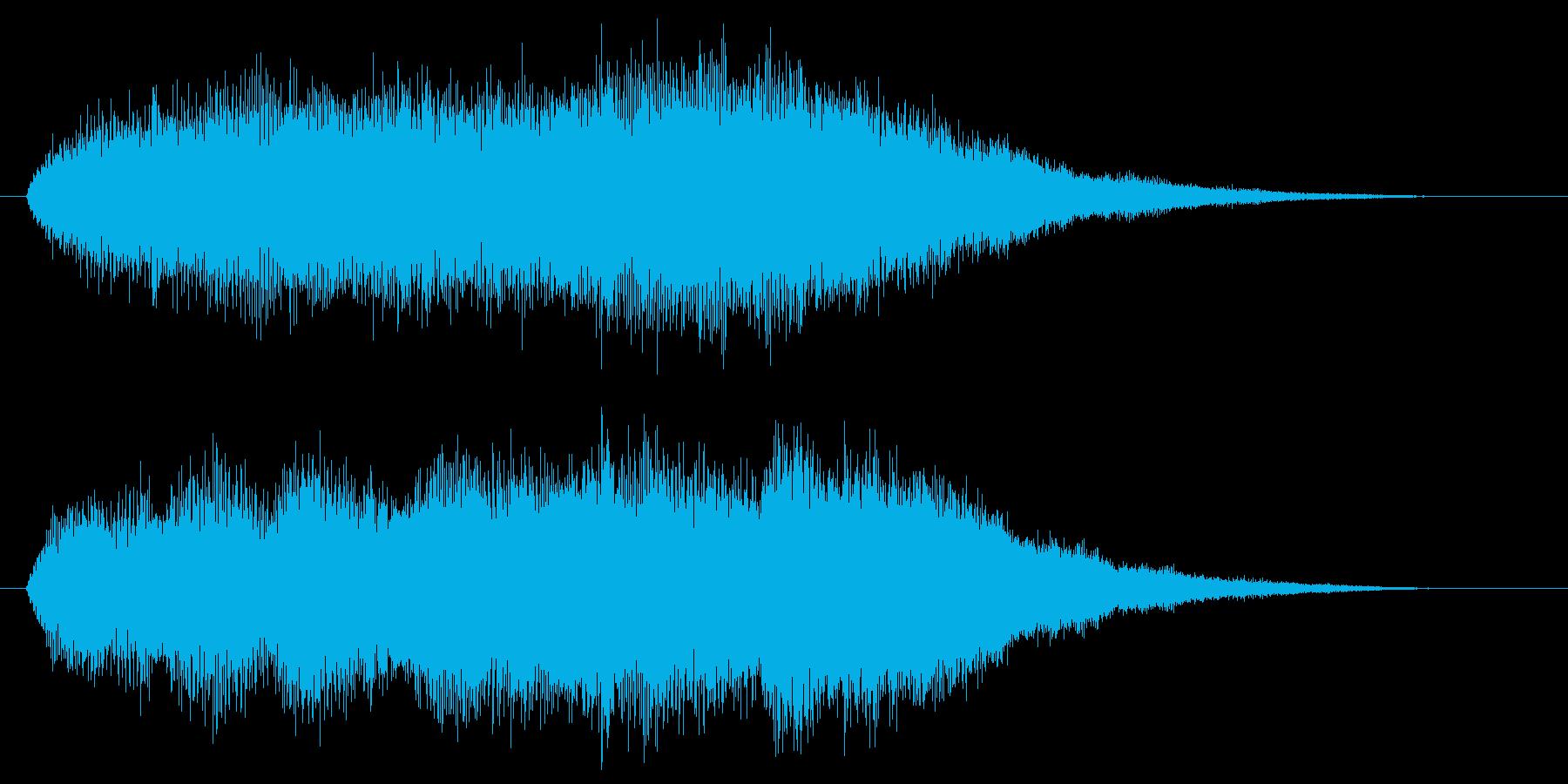 シンセがシリアスなワンコードを弾く効果音の再生済みの波形