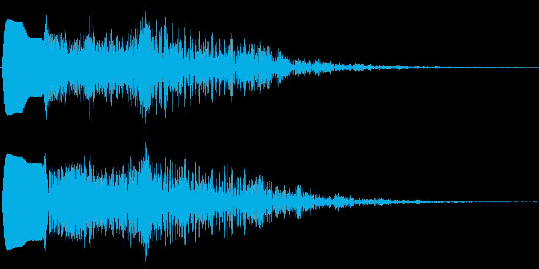 ピィゥゥゥ。落ちる・下がる・飛んでいく音の再生済みの波形