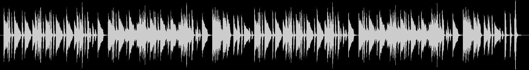 ピアノの練習曲っぽいBGMの未再生の波形