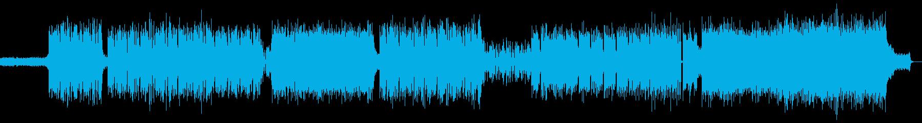 ラウドなゲーム音楽 バンドサウンドの再生済みの波形