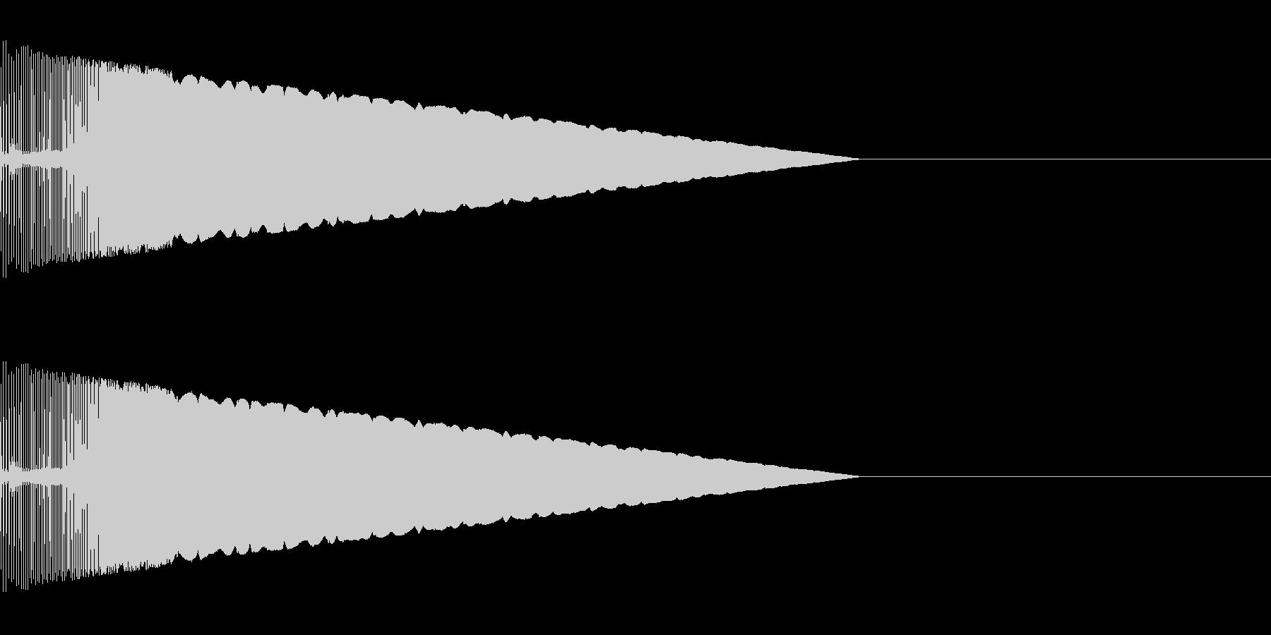 キュイーン アイテム獲得音の未再生の波形