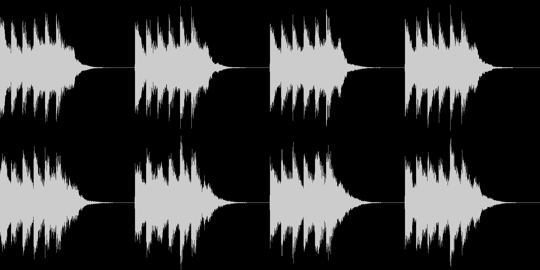 シンプル ベル 着信音 チャイム A-5の未再生の波形