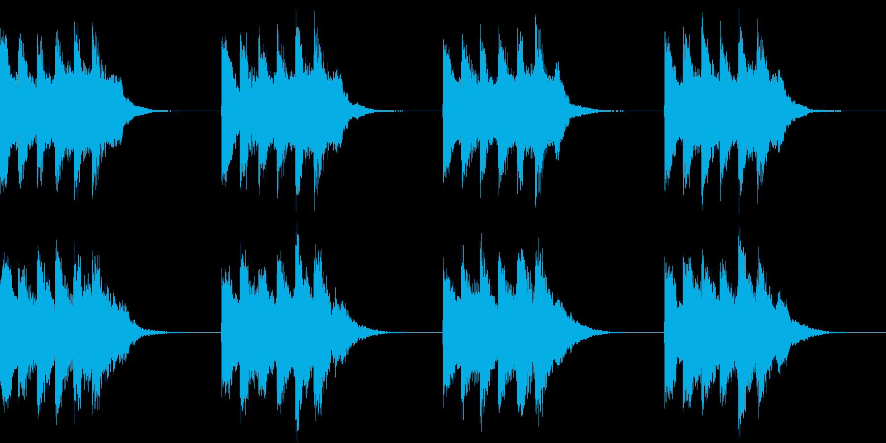 シンプル ベル 着信音 チャイム A-5の再生済みの波形