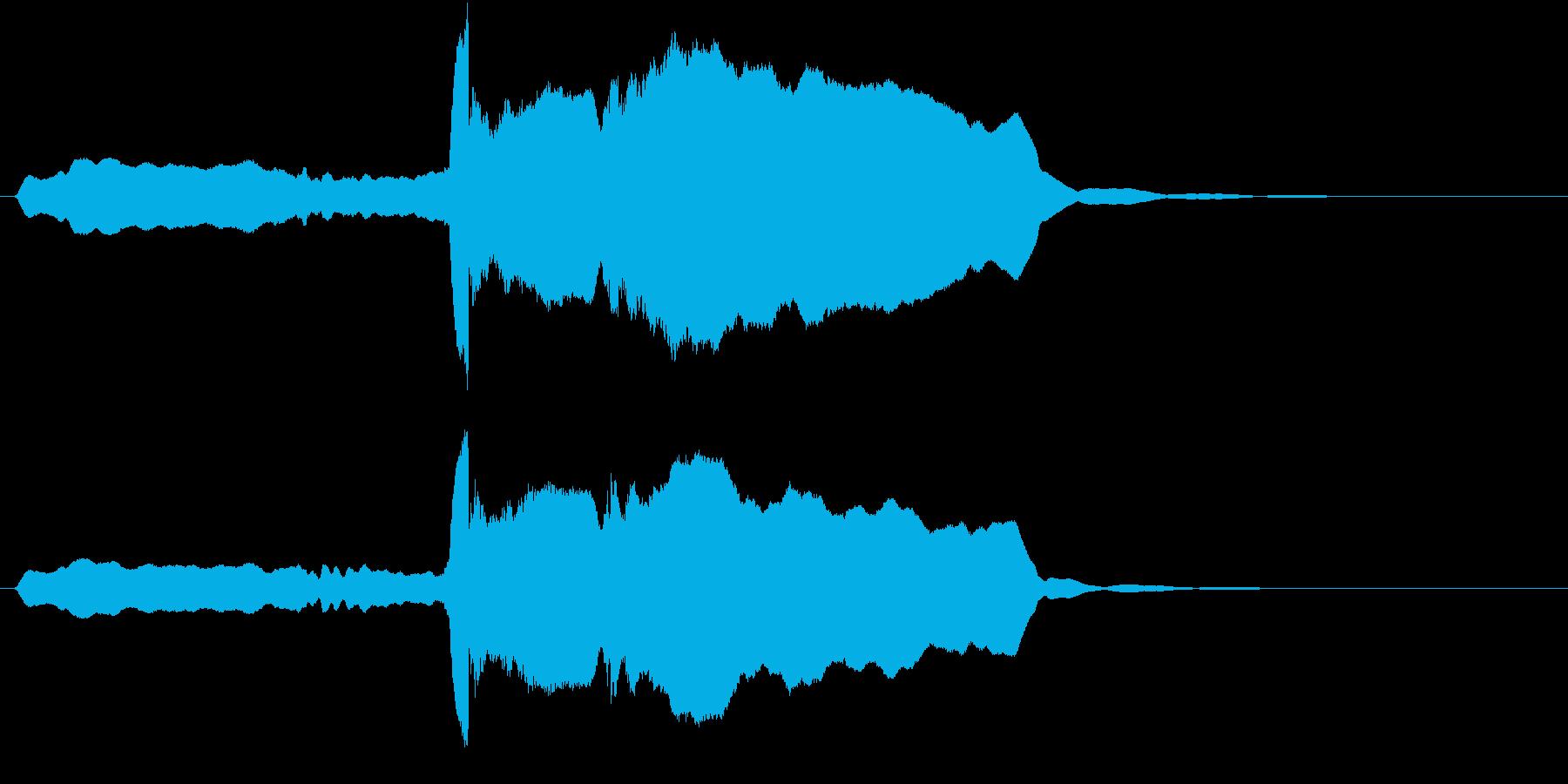 音侍SE「尺八フレーズ1」エニグマ音06の再生済みの波形