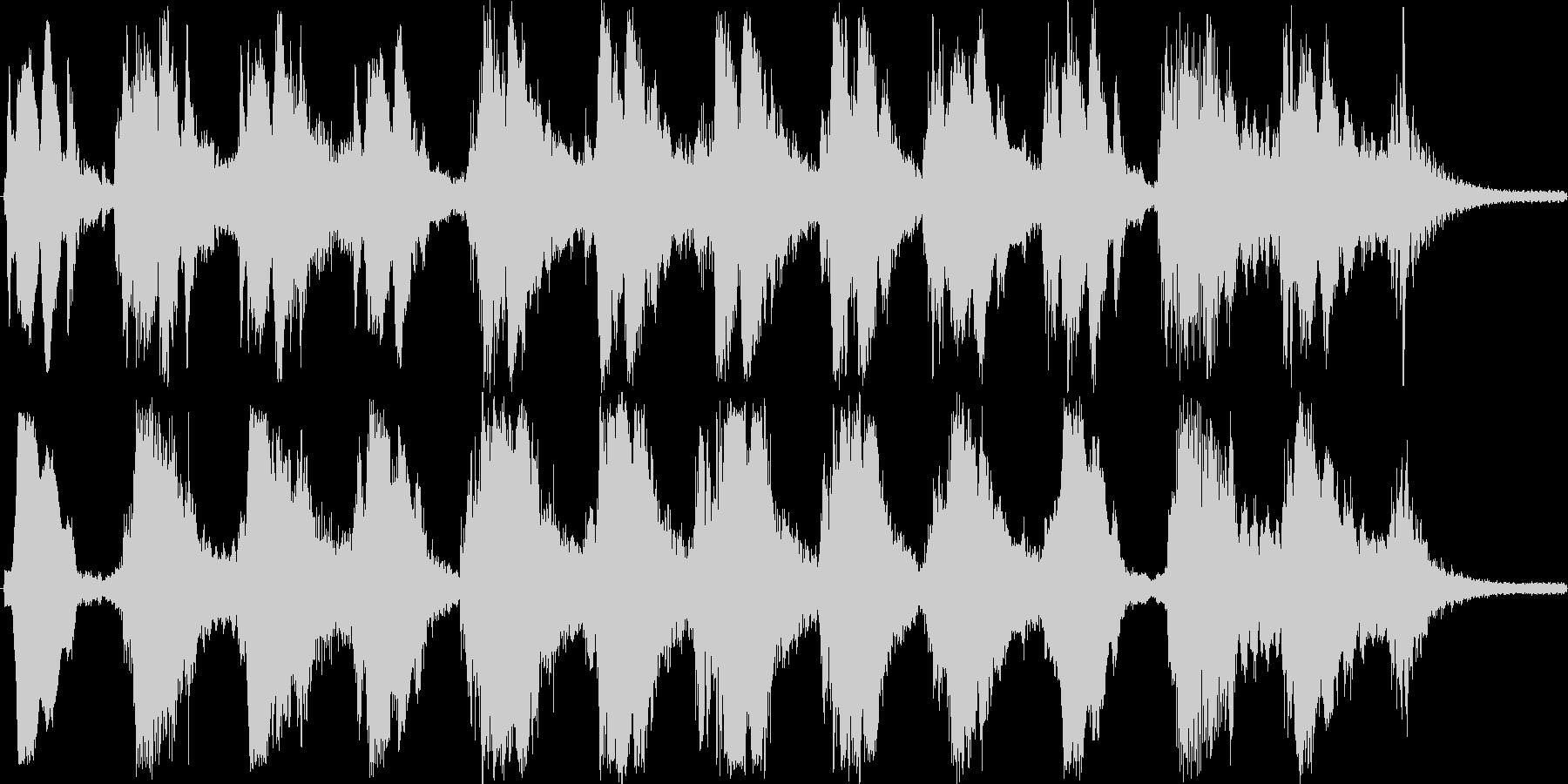 お経のようなサックスと金属音の未再生の波形