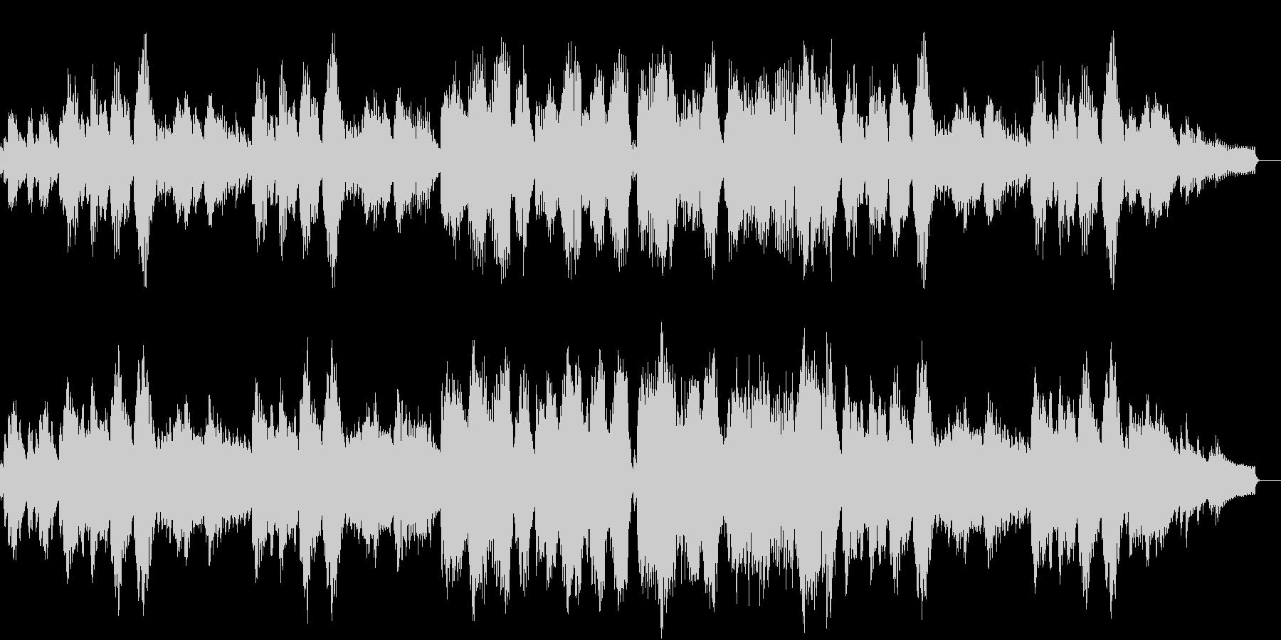 のどかな雰囲気のBGMの未再生の波形