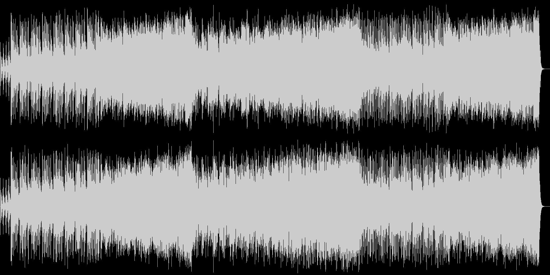 パワフルな和風曲の未再生の波形
