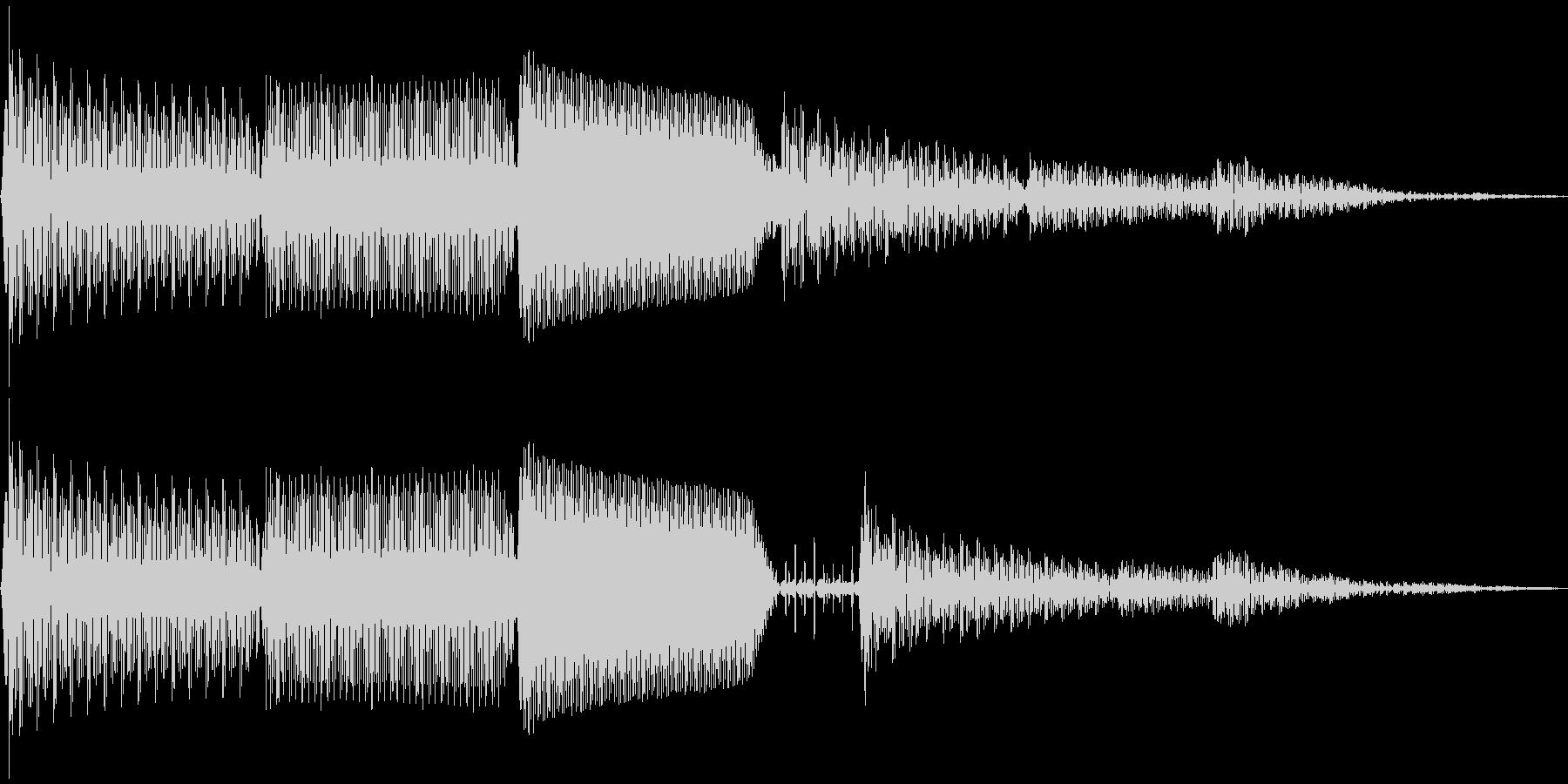 ピロン(カーソル移動 決定 キャンセル)の未再生の波形