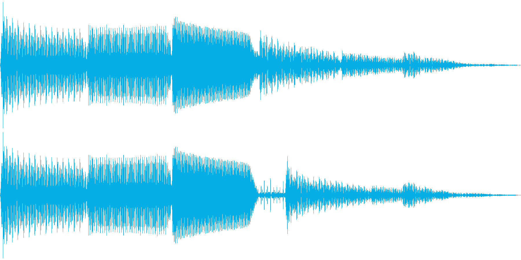 ピロン(カーソル移動 決定 キャンセル)の再生済みの波形