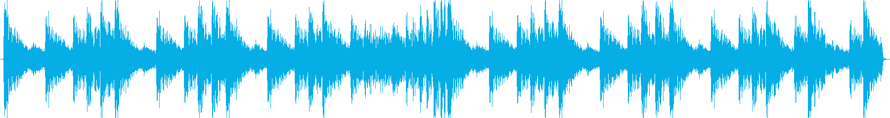 和風ループ音源の再生済みの波形