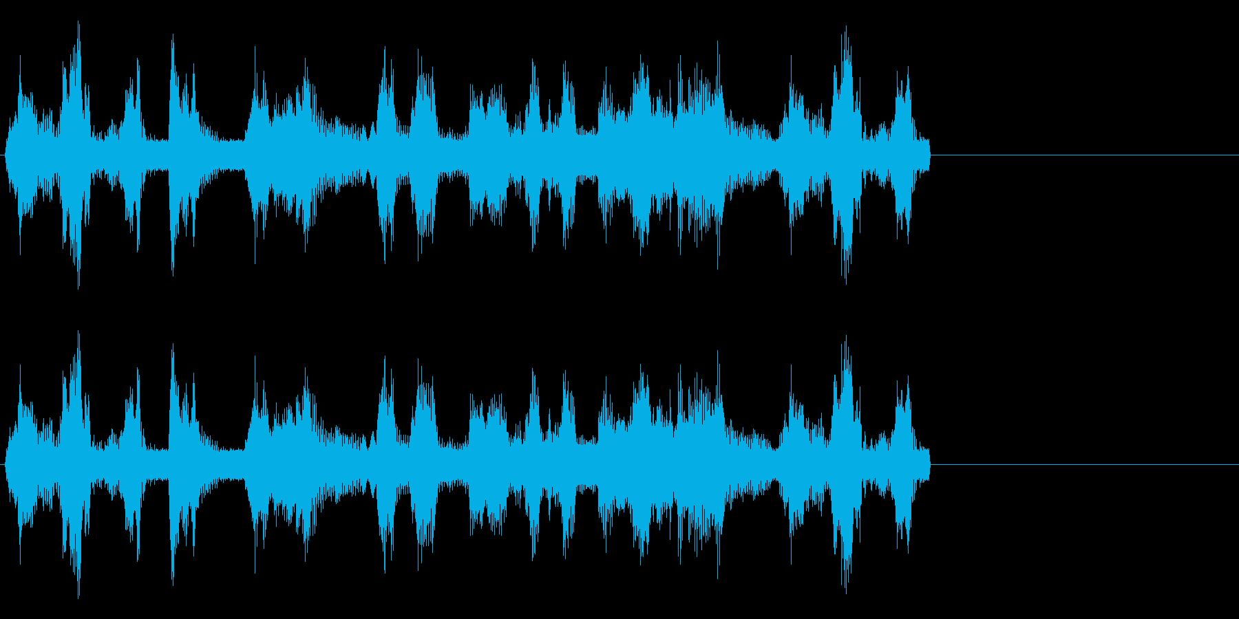 ロボットの効果音ですの再生済みの波形