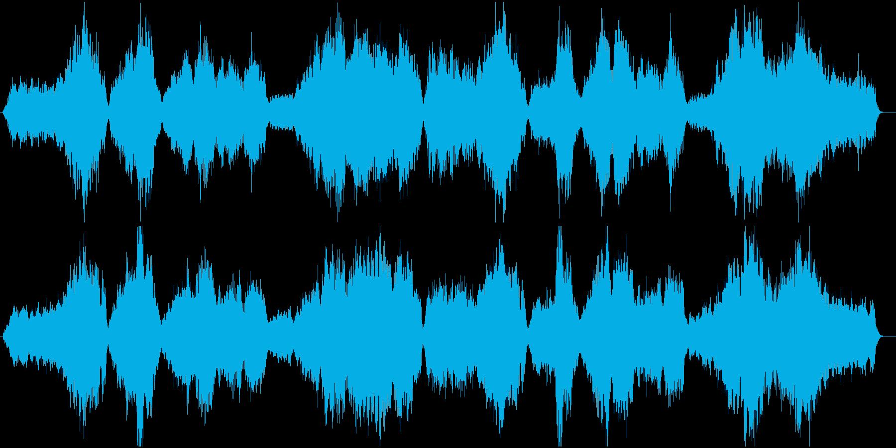 バッハを意識したストリングスの再生済みの波形