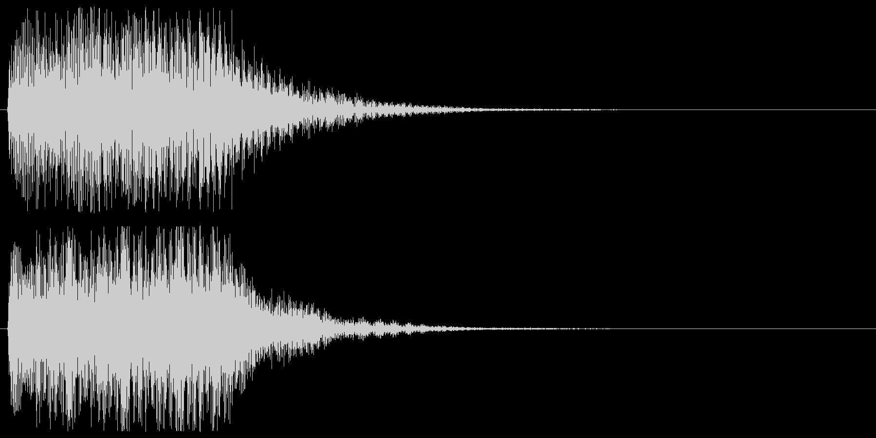 ピアノの低めのアラート 警告 危険 注意の未再生の波形