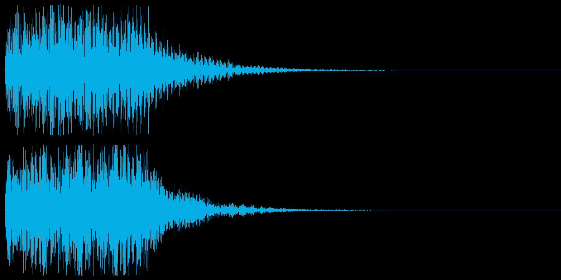 ピアノの低めのアラート 警告 危険 注意の再生済みの波形