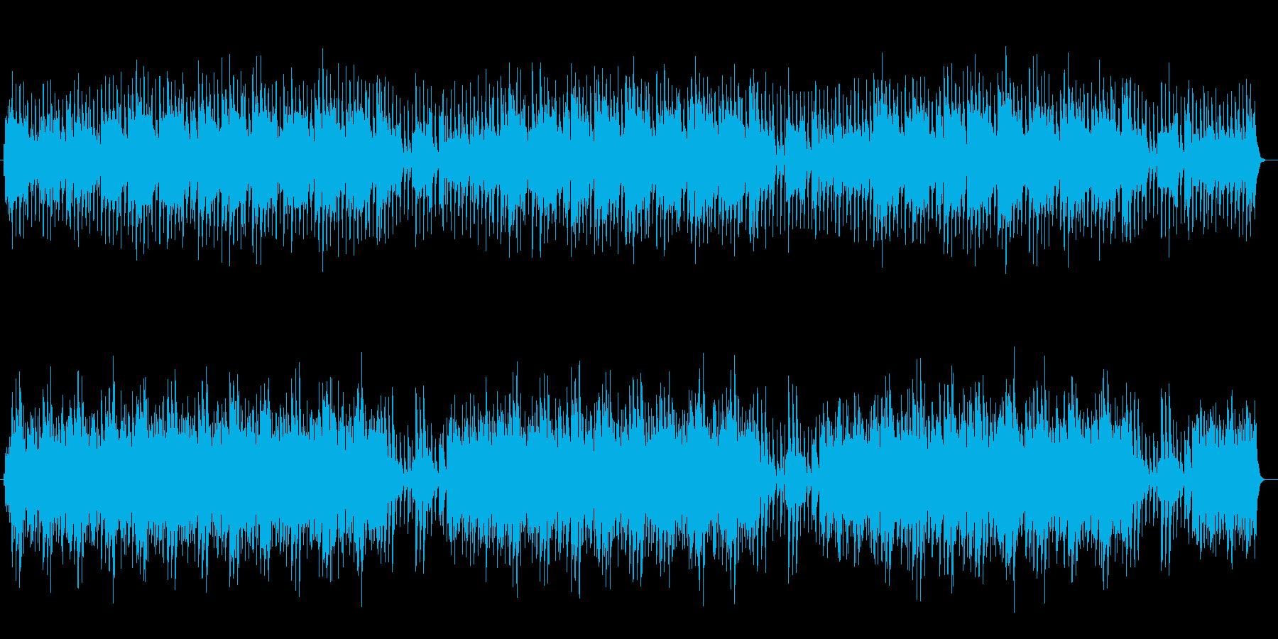 シンセによる宇宙的スケールを感じる行進曲の再生済みの波形