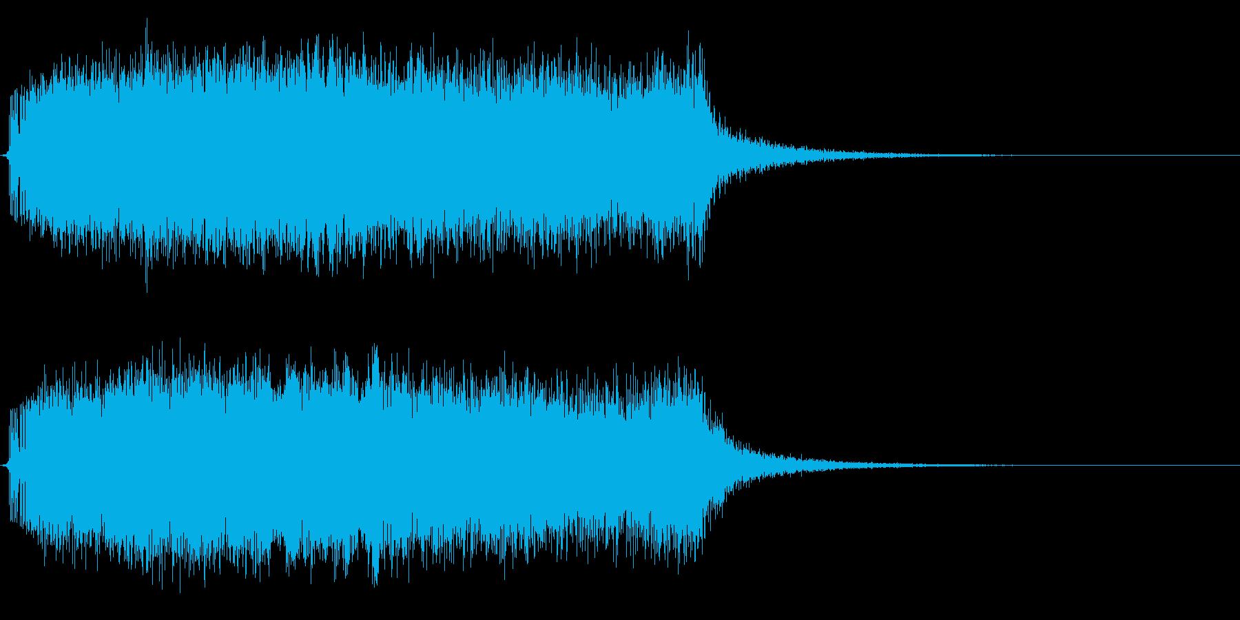 モンスターの鳴き声(翼竜系2)の再生済みの波形