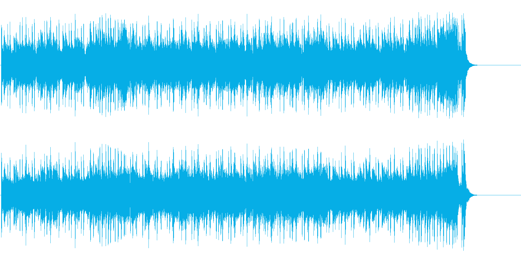空と海の爽快フュージョン(イントロ~…)の再生済みの波形