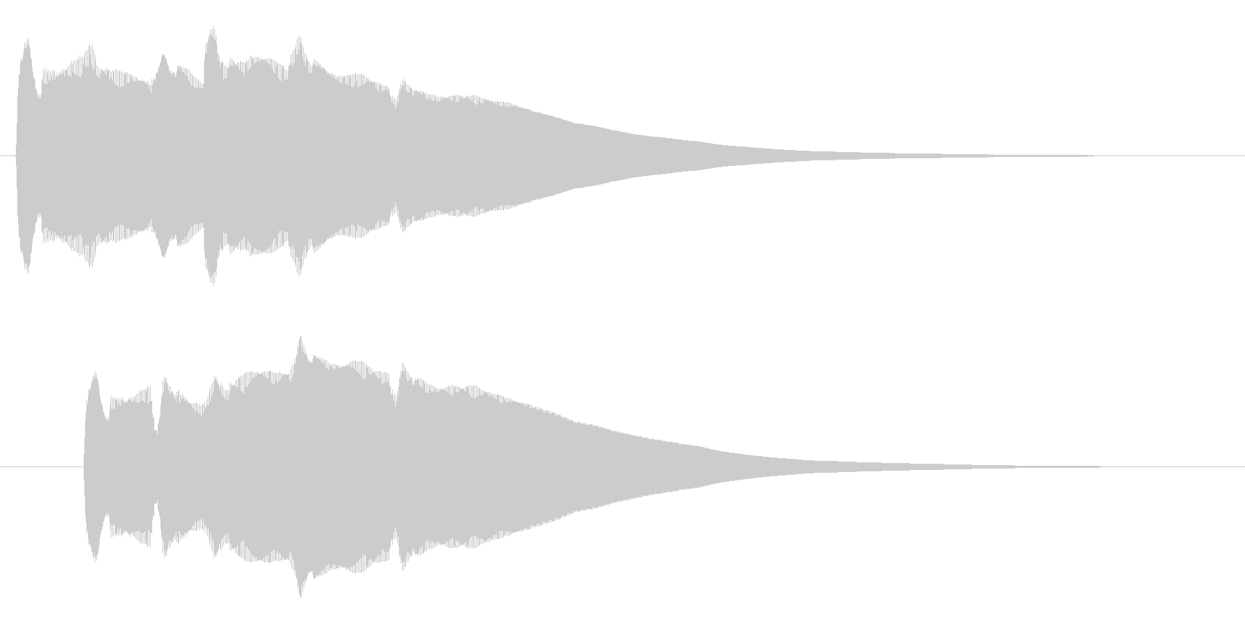 コーン(金属音のような脳に響く音)の未再生の波形