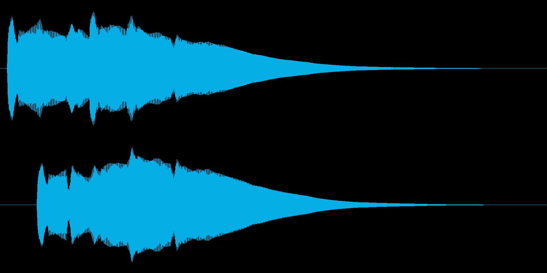 コーン(金属音のような脳に響く音)の再生済みの波形