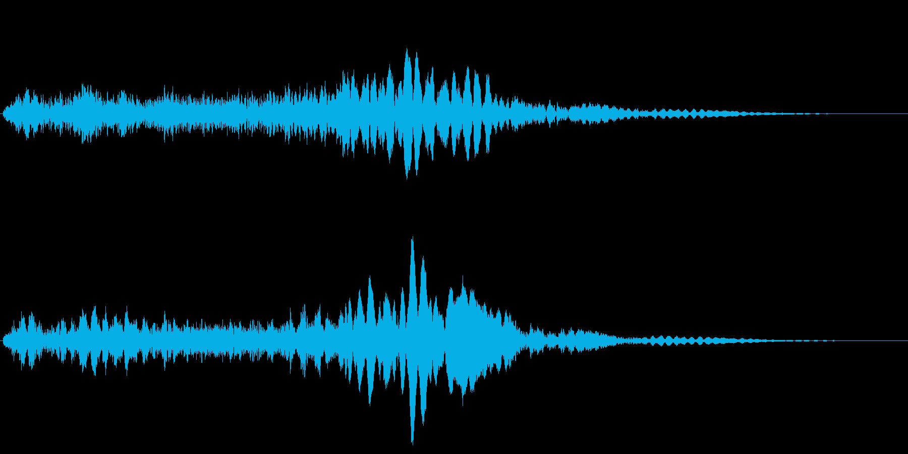 サスペンスに最適!ピアノの弦を弄ぶ音42の再生済みの波形