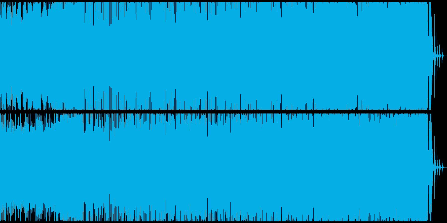 ダークなハリウッド風のサウンドトラックの再生済みの波形