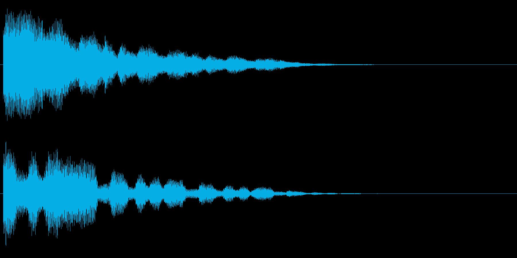 トゥ~~ンの再生済みの波形