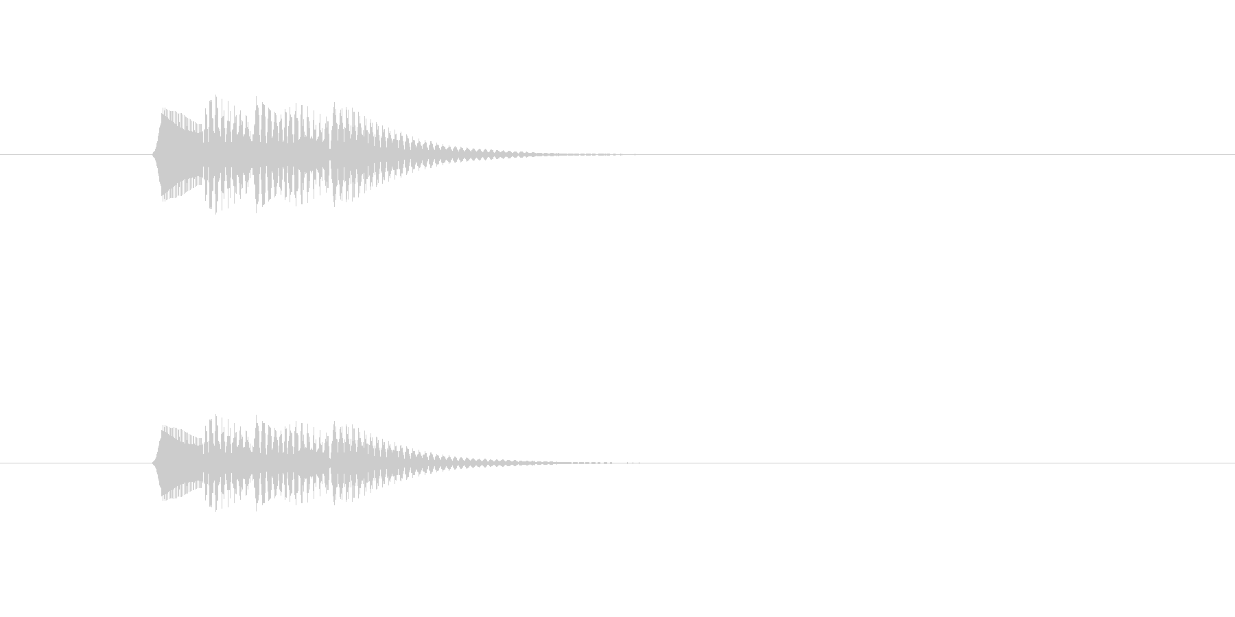 ポロロロン(軽やかな打楽器音)の未再生の波形