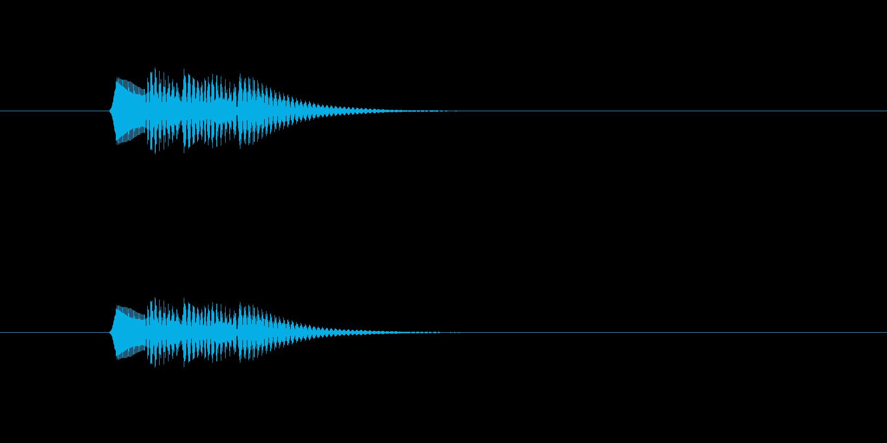 ポロロロン(軽やかな打楽器音)の再生済みの波形