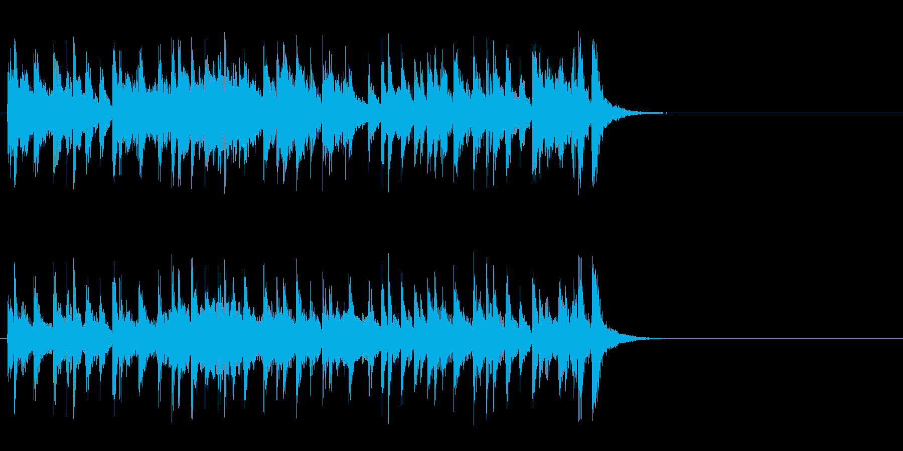 リラックスなフュージョン(Aメロ)の再生済みの波形