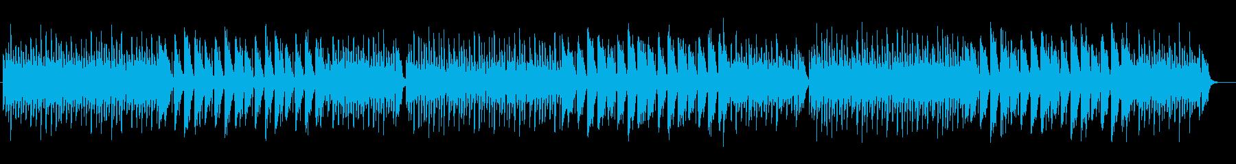 弾けるようなファンタジーミュージックの再生済みの波形