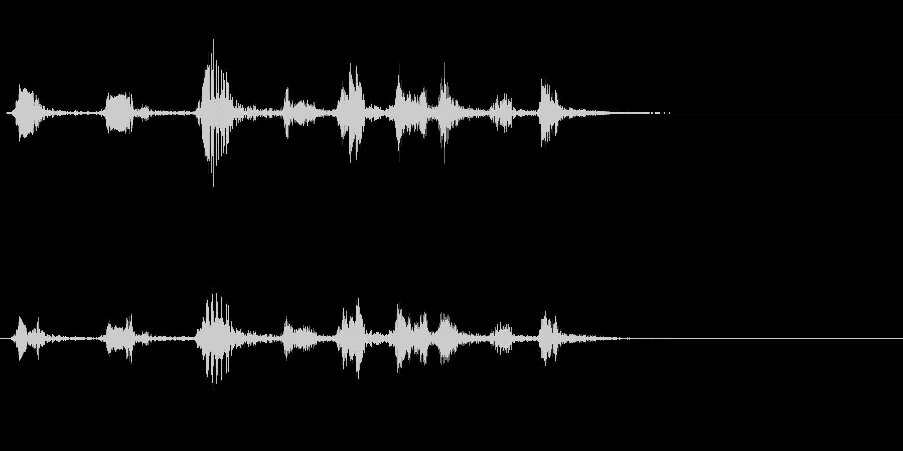 アカハラの鳴き声の未再生の波形