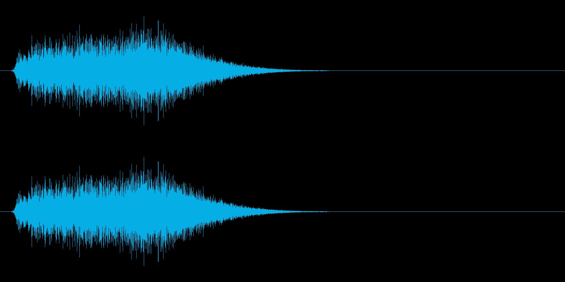 パワーアップをするような効果音の再生済みの波形