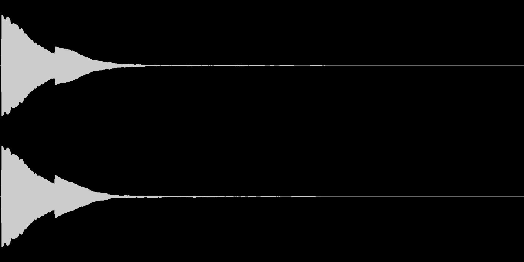 ピッ(選択/カーソル/シンプル)の未再生の波形