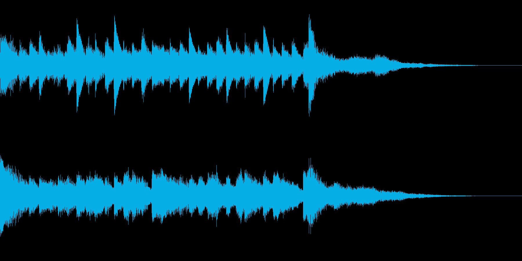 キラキラとしたバラードの再生済みの波形