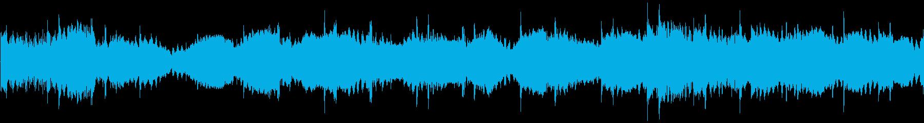 ホラーゲーム系の不気味なBGMの再生済みの波形