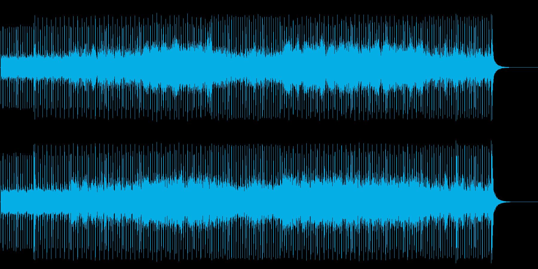 緊迫した空気が流れる無機質なポップの再生済みの波形