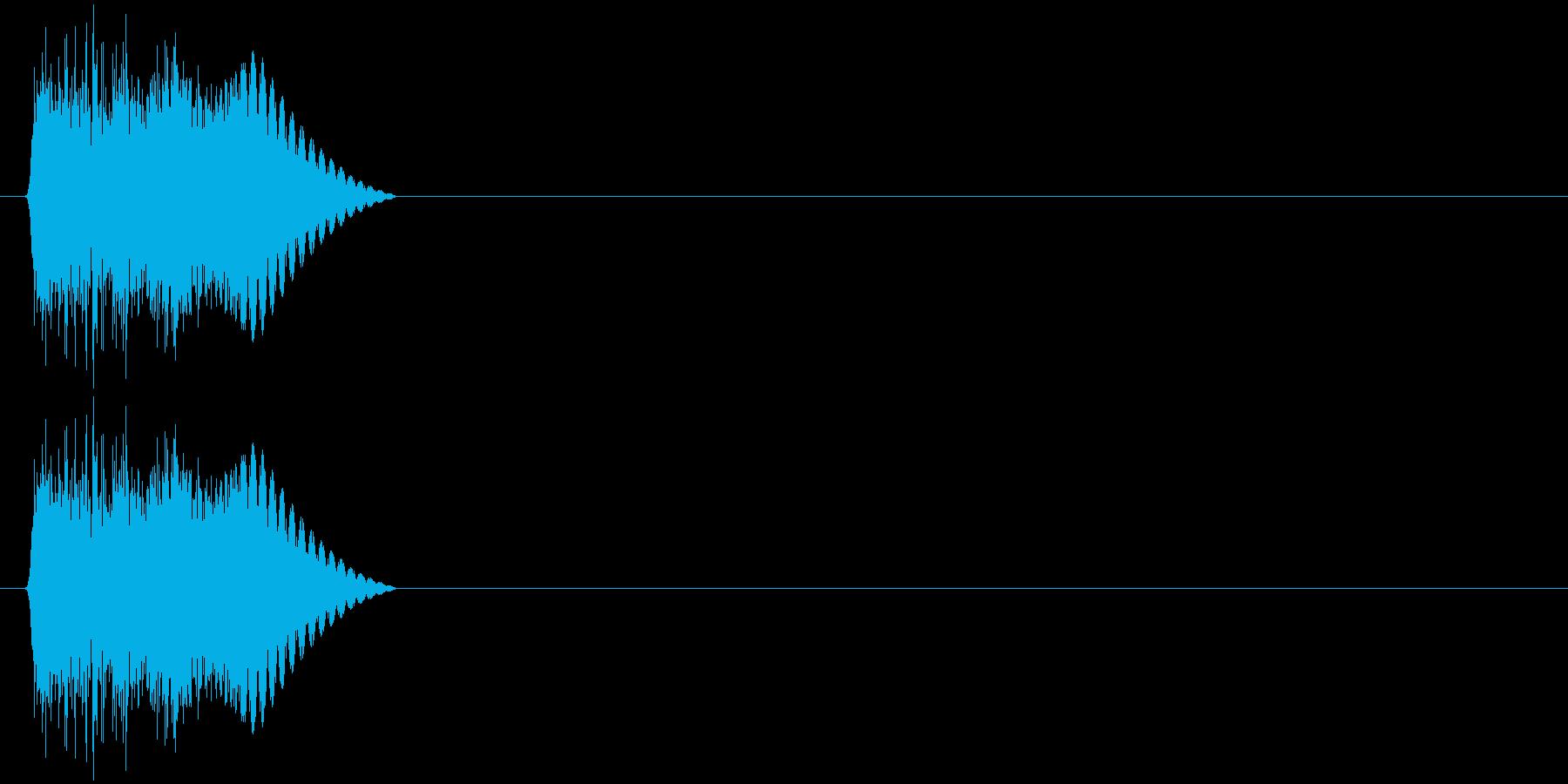 決定音(斬、電子音、シャキン)の再生済みの波形