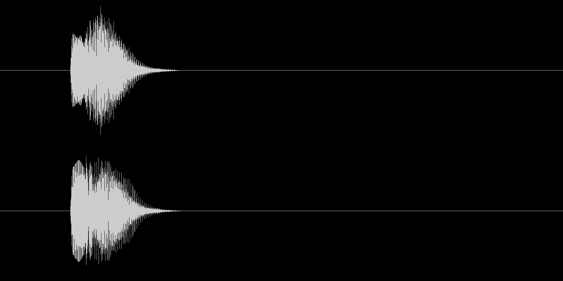 短いエラーボタン音の未再生の波形