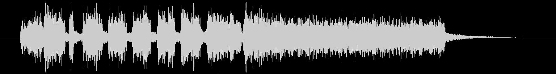 オルガンのシンプルでポップなジングルの未再生の波形