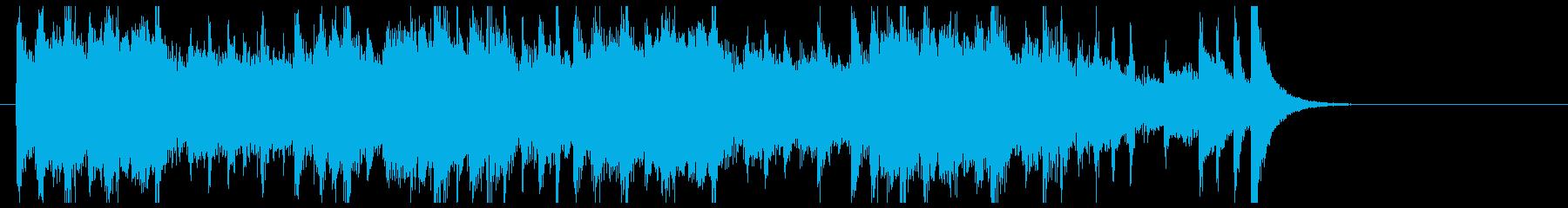 ジャズテイストのおしゃれなジングルの再生済みの波形