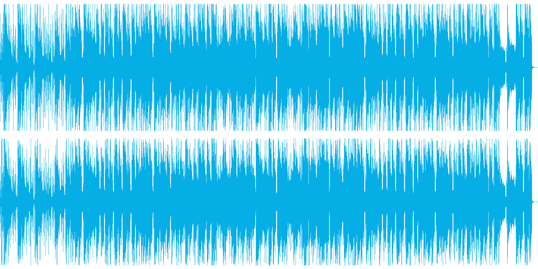 ウクレレを用いた陽気で明るい楽曲の再生済みの波形