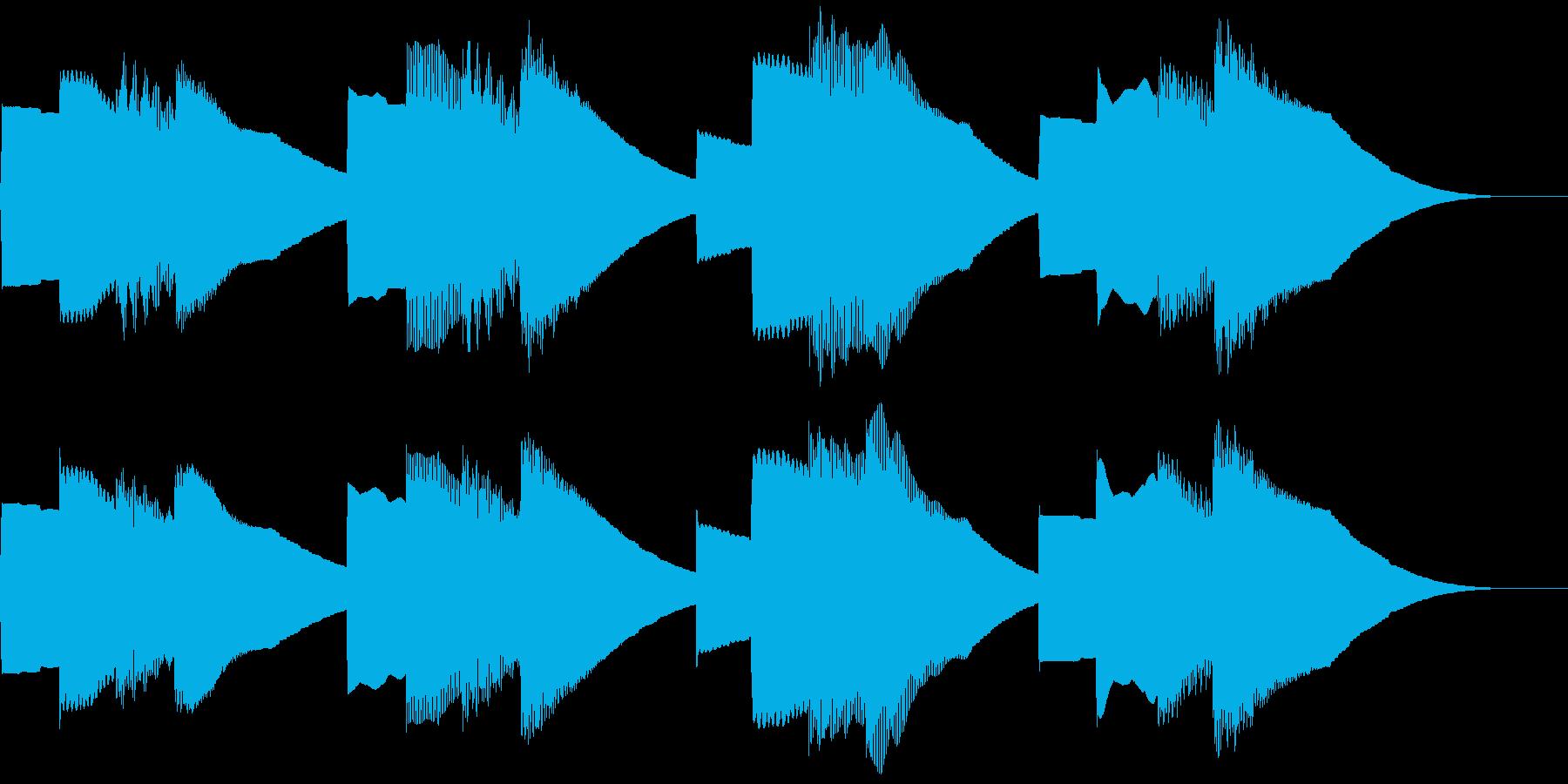 学校のチャイム キンコンカンコンの再生済みの波形