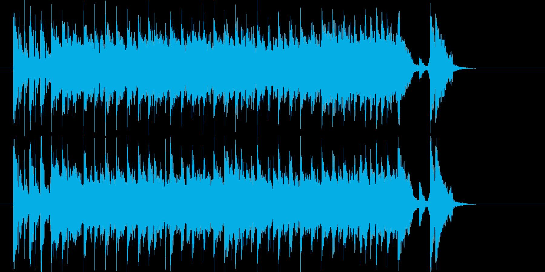 スポーツをイメージさせる短い吹奏楽の再生済みの波形