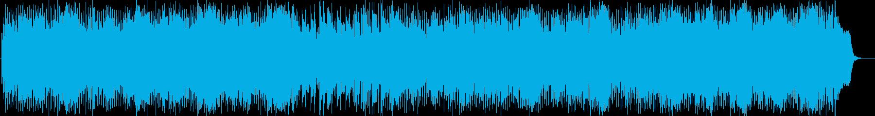 明るいキラキラなシンセサイザーの曲の再生済みの波形