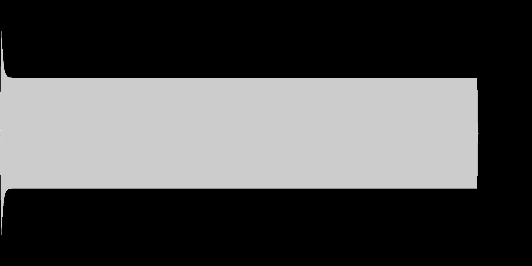 長めのピー音(自主規制音)の未再生の波形