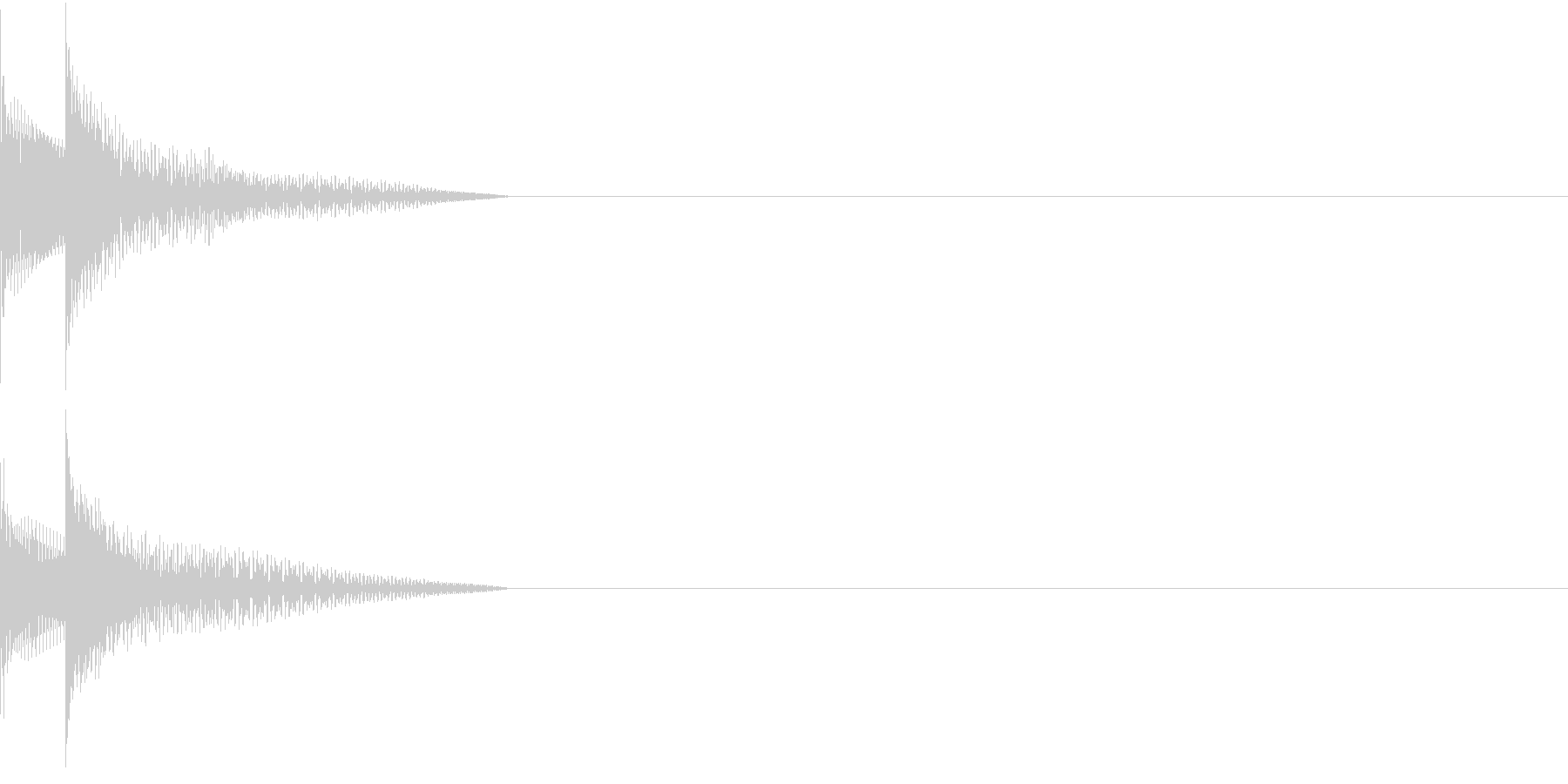 Cursor セレクト・カーソルの音9の未再生の波形